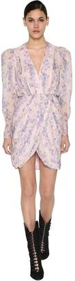 Giambattista Valli Printed Silk Georgette Midi Dress