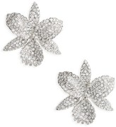 Nina Women's Large Orchid Stud Earrings