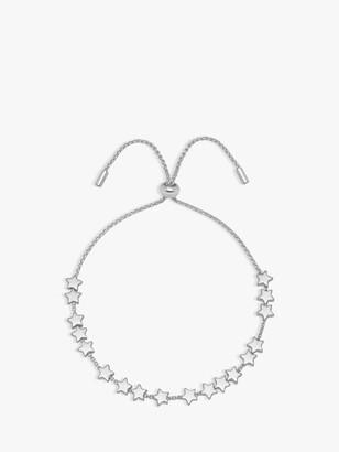 Estella Bartlett Star Chain Slider Friendship Bracelet, Silver