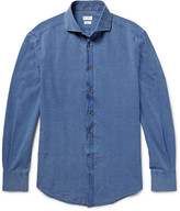 Brunello Cucinelli - Slim-fit Cutaway-collar Cotton-chambray Shirt