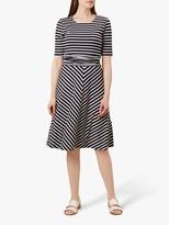 Hobbs Bayview Dress, Navy/White