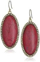 Lucky Brand Red Jade Stone Earrings