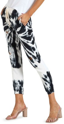 n:philanthropy It Was All A Dream Derby Tie-Dye Distressed Crop Joggers