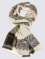 Marks and Spencer Diamond Border Scarf