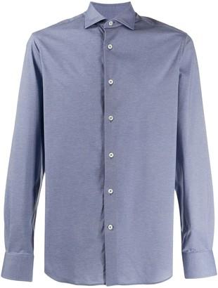 Traiano Milano Spread-Collar Long Sleeved Shirt