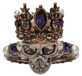 Alexander McQueen Silver Queen Skull Ring