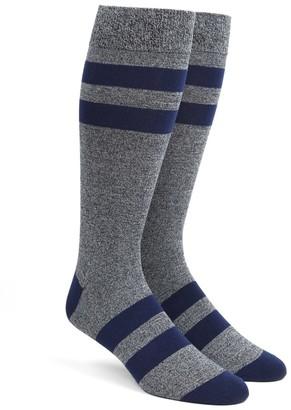Tie Bar Varsity Stripe Navy Dress Socks