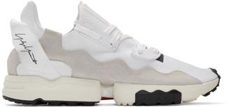 Y-3 Y 3 White ZX Torsion Sneakers