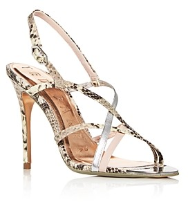 Ted Baker Women's Theanaa Snake-Embossed Strappy High-Heel Sandals
