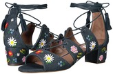 Tabitha Simmons Isadora Flower Embroidered Women's 1-2 inch heel Shoes