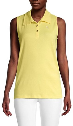 Pappagallo Gabby Sleeveless Polo Shirt