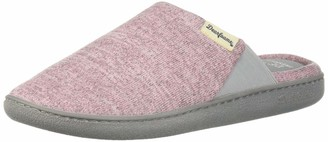 Dearfoams Women's Wide Width Knit Closed Toe Scuff Slipper Pink L W US