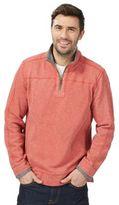 Mantaray Orange Pique Zip Neck Sweater