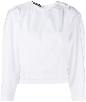 DEPARTMENT 5 Puff-Sleeve Panelled Blouse