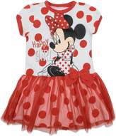 Disney Toddler Girls' Minnie Mouse Tulle Dress, with Red Polka Dots