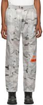 Heron Preston Grey Camo Nylon Cargo Lounge Pants