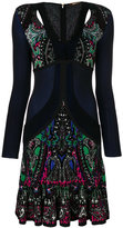 Roberto Cavalli scalloped paisley dress