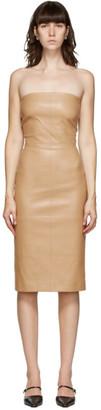 Rosetta Getty Tan Leather Stretch Dress