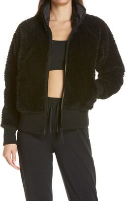 Zella Cozy Furry High Pile Fleece Jacket