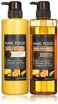 Clairol Hair Food Moisture Shampoo & Conditioner Set Infused With Honey Apricot Fragrance, 17.9 Fl Oz (Pack of 2)