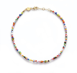 Anni Lu Women's Pearly Alaia Anklet - Multi