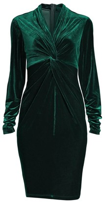 Elie Tahari Cynthia Velvet Twist Dress