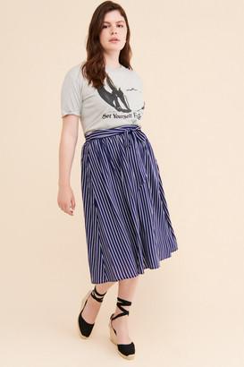 ModCloth Woven Sash Skirt