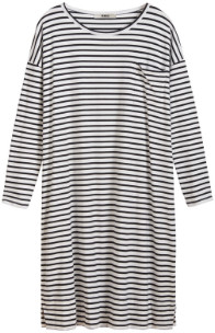 Zenggi Black Breton Stripe T Dress - L/XL