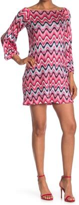 Trina Turk Fresh Wavy Stripe Shift Dress