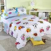 Norson bedding set Norson Unique Child Lily Cow Cartoon Bedding,boys Girls Animal Duvet Cover,cute Cow Korean Bed Set,twin Queen Size