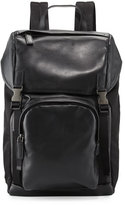 Prada Men's Leather & Nylon Backpack, Black