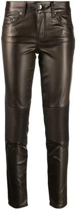 Liu Jo faux-leather skinny trousers