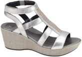 Naot Footwear Women's Sandals Silver - Silver Luster Mystery Leather Wedge Sandal - Women