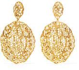 Aurelie Bidermann Dentelle Gold-plated Earrings