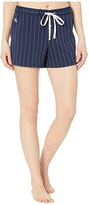 Lauren Ralph Lauren Cotton Polyester Jersey Separate Boxer Shorts (Navy Stripe) Women's Pajama