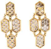 Kara Ross Hexagon Tiered Earrings