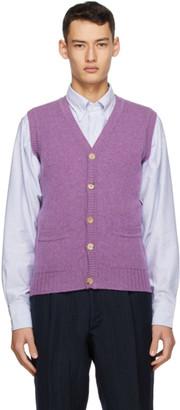 Drakes Purple Geelong Vest