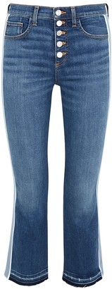 Veronica Beard Carolyn blue kick-flare jeans