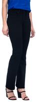 NYDJ Billie Slim Bootcut Jeans, Black Overdye