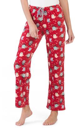 Micro Fleece Owl Pajama Pants