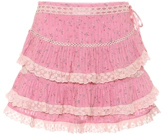 LoveShackFancy Exclusive to Mytheresa a Bara floral cotton miniskirt