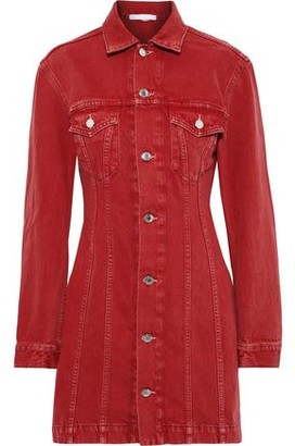 Helmut Lang Femme Trucker Denim Mini Shirt Dress