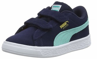 Puma Kids' Suede Classic V PS Sneaker Ash White 2.5 UK