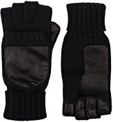 Barneys New York Men's Wool-Cashmere Convertible Mittens-BLACK