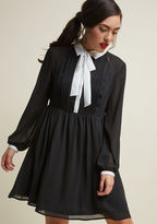 ModCloth Detail Your Delight Chiffon Shirt Dress in L