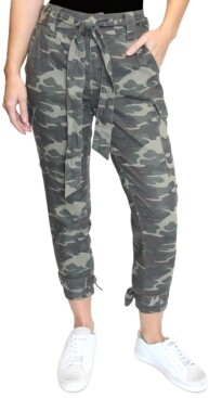 Almost Famous Super-High-Rise Belted Cargo Ankle Joggers