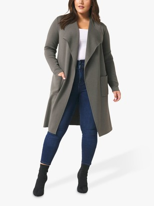 Forever New Curve Faye Cardigan, Sage