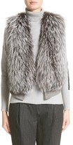 Fabiana Filippi Women's Wool, Silk & Cashmere Knit Vest With Genuine Fox Fur Front