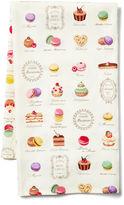 Maison Du Linge Macaron Tea Towel, Ecru/Multi