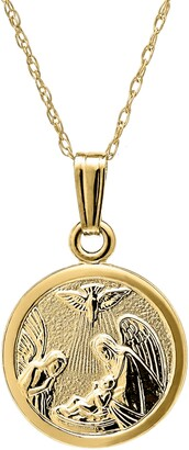 Mignonette 14k Gold Guardian Angel Pendant Necklace